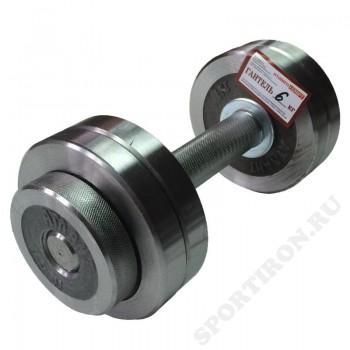 Гантель разборная хром Атлант 6 кг